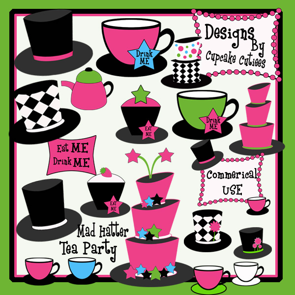 PRODUCT REVIEW Illustrations Cliparts Mad Hatter Tea Party – Free Mad Hatter Tea Party Invitations